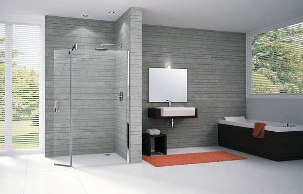 Douche l 39 italienne combien co te son installation en for Photos douche italienne