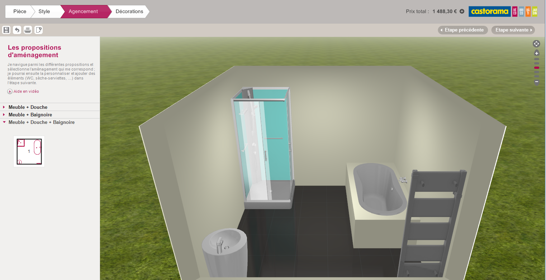 Salle de bain en 3d les logiciels en ligne et leur for Amenager une piece en 3d
